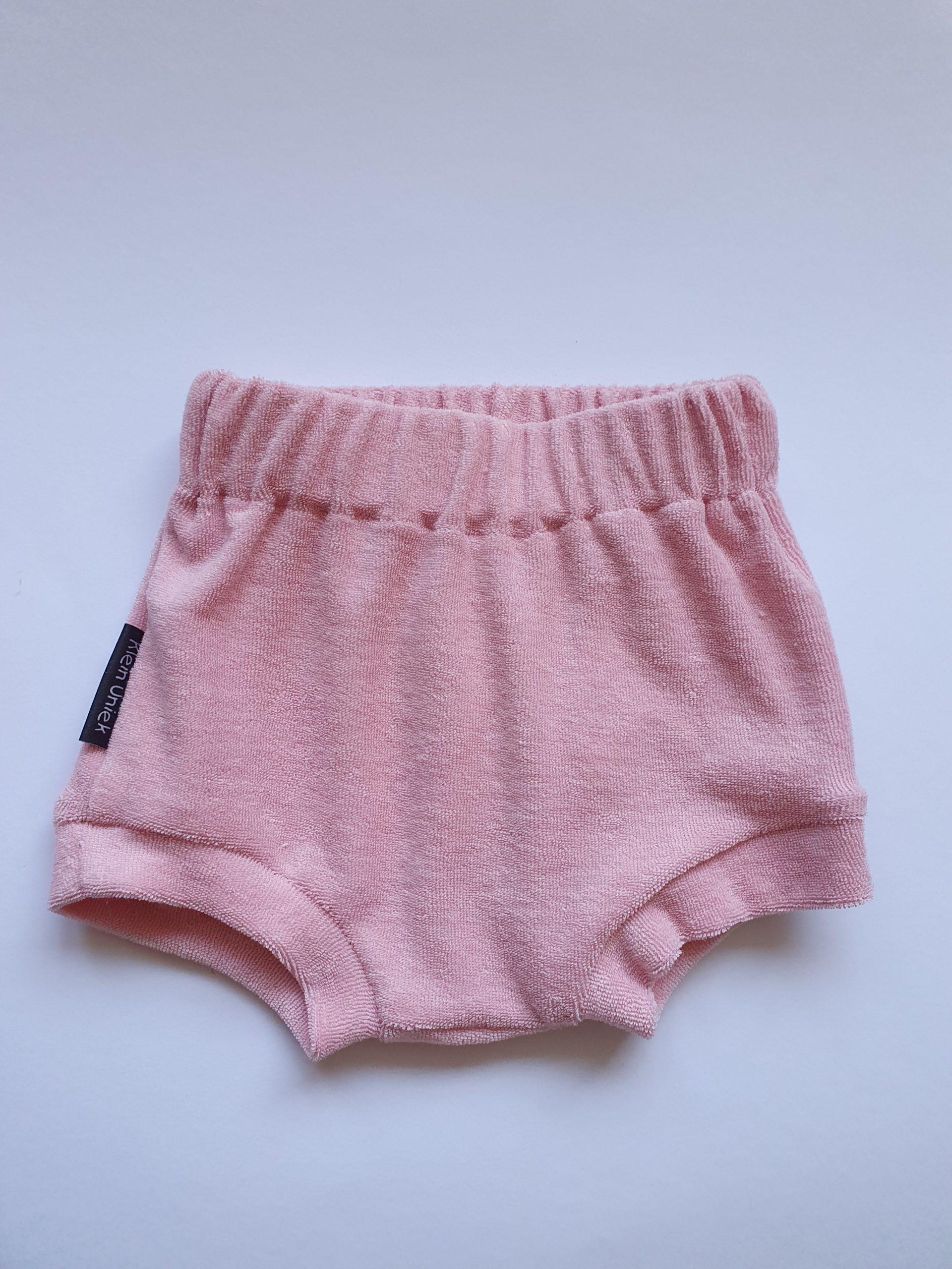 Badstof pink kortebroek.