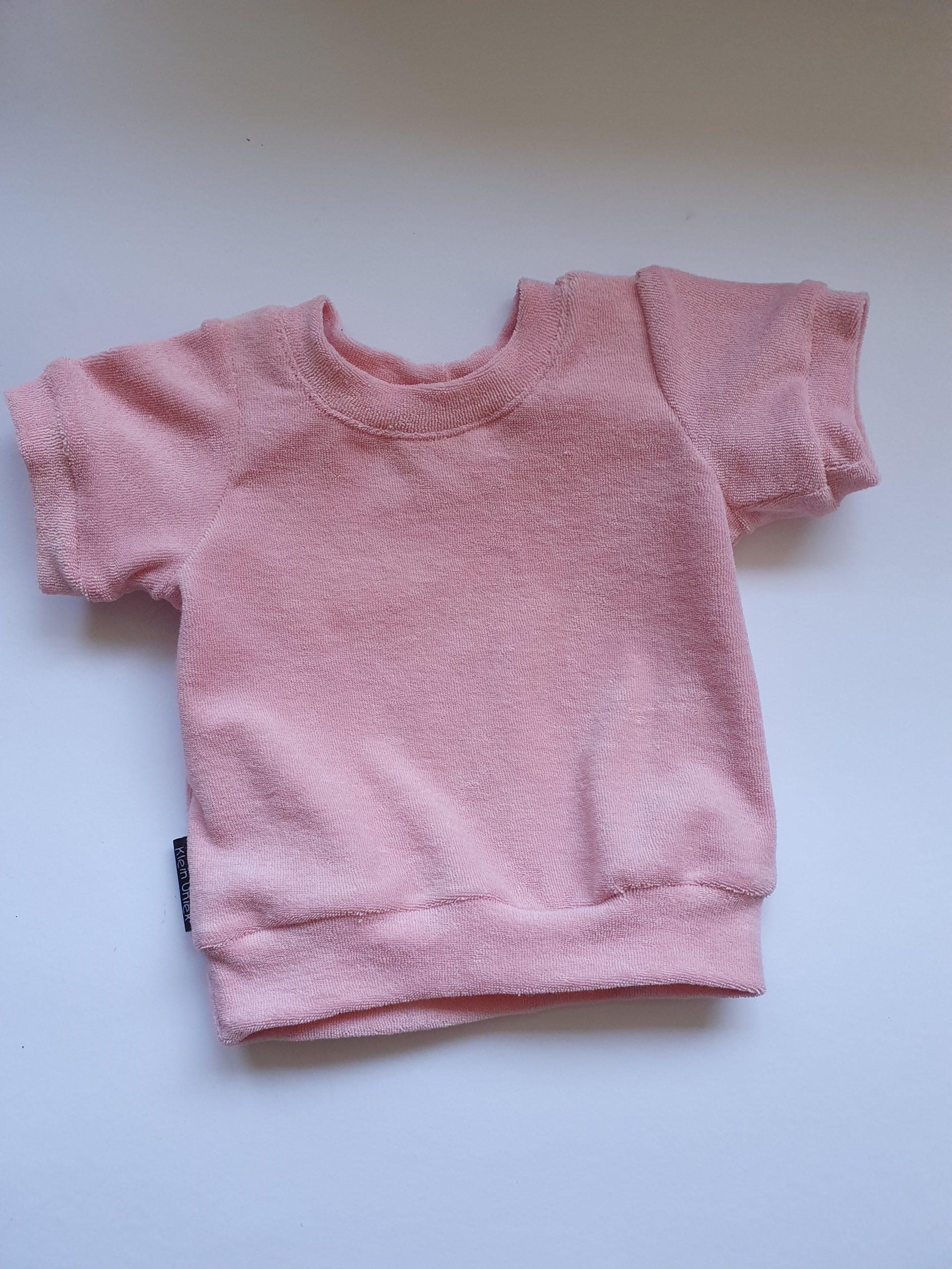 Badstof pink t-shirt.