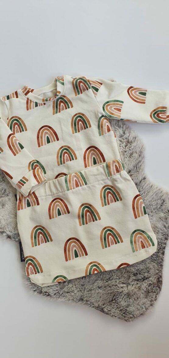 regenboog setje met trui