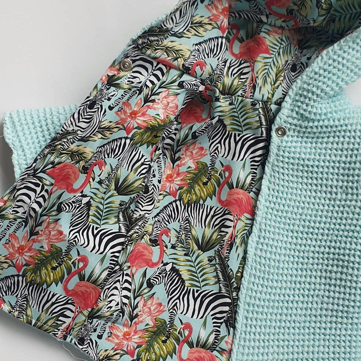 flamingo jasje aan 2 kanten te dragen maat 50 56